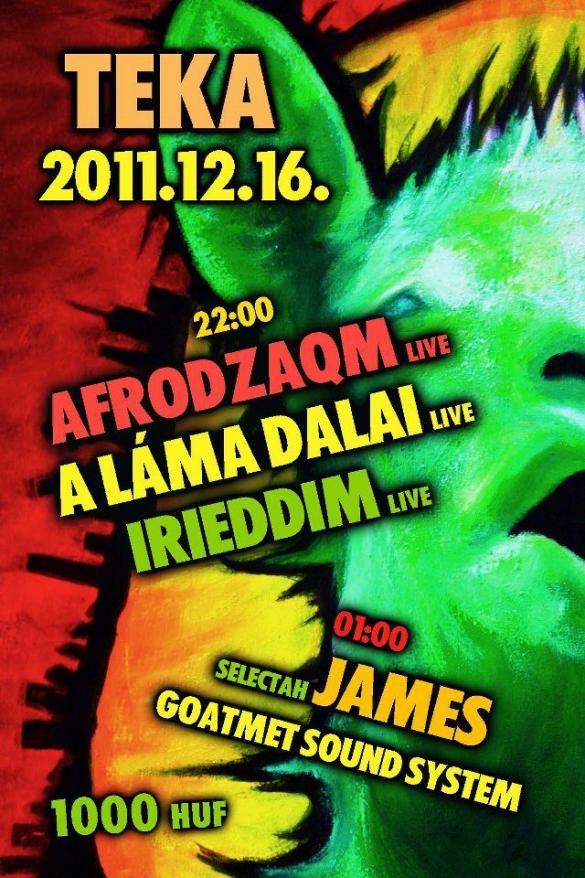 Goatmét Sound System + AfroDZAQM koncert