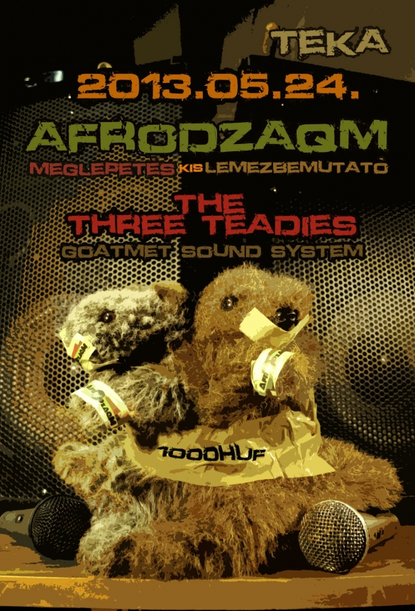 AfroDZAQM kislemez bemutató + The Three Teadies + Selecta James